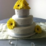 Yellow Gerber Wedding Cake