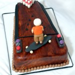 Bowling and Longboarder Cake