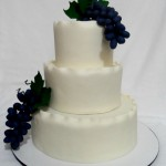 Grape Vines Wedding Cake