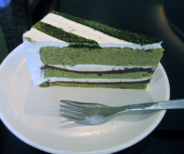 Matcha Red Bean Paste Cake