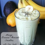 Mango Banana Avocado Smoothie with Chia Seeds | SpecialtyCakeCreations.com