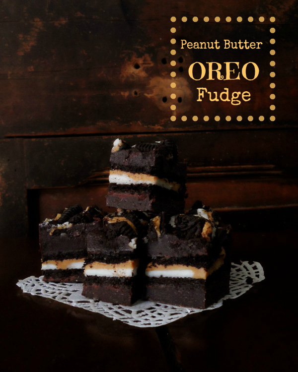 Peanut Butter Oreo Chocolate Fudge from SpecialtyCakeCreations.com
