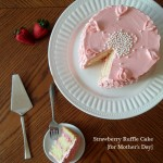 Strawberry Ruffle Cake for Mothers Day