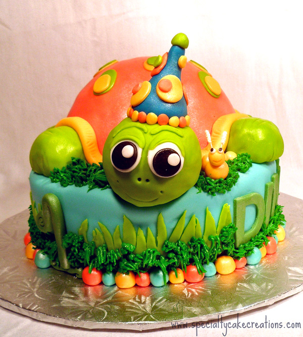 First Birthday Turtle Cake