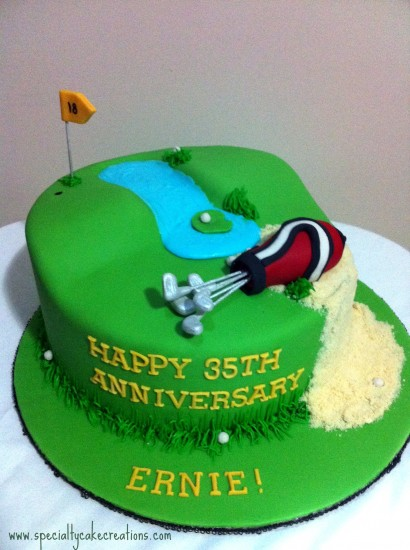Specialty Golf Cake
