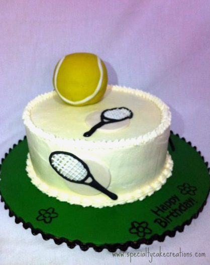 Cool Specialty Tennis Cake Specialty Cake Creations Personalised Birthday Cards Veneteletsinfo