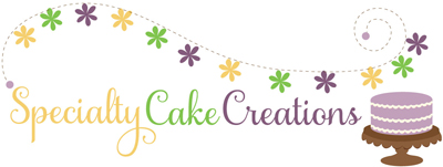 Specialty Cake Creations blog design logo